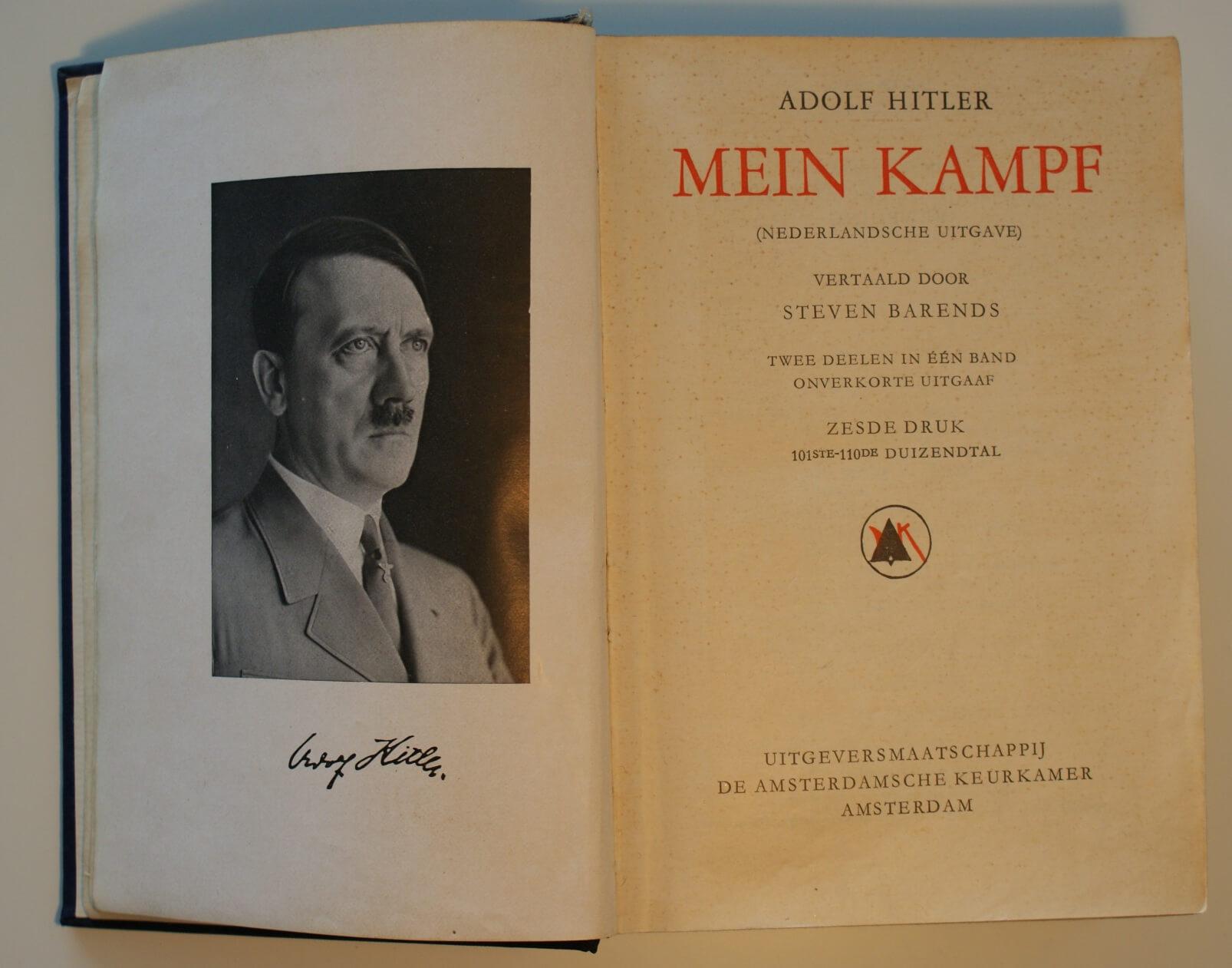 Mein Kampf foto Adolf Hitler