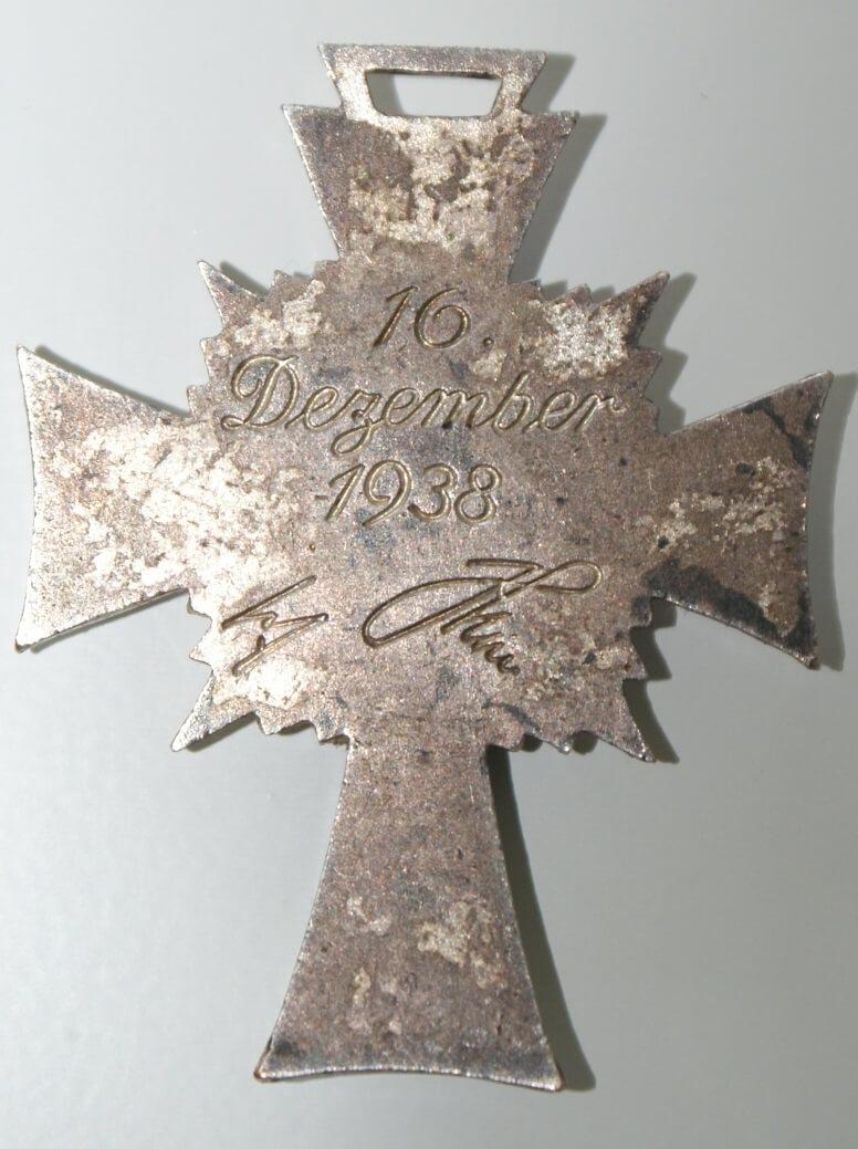 Mutterkreuz 16 dezember 1938