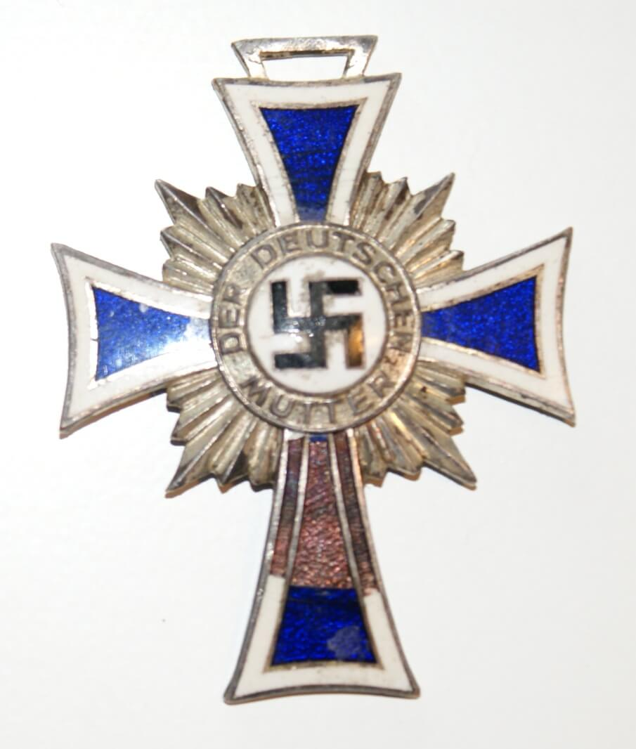 Mutterkreuz in zilver
