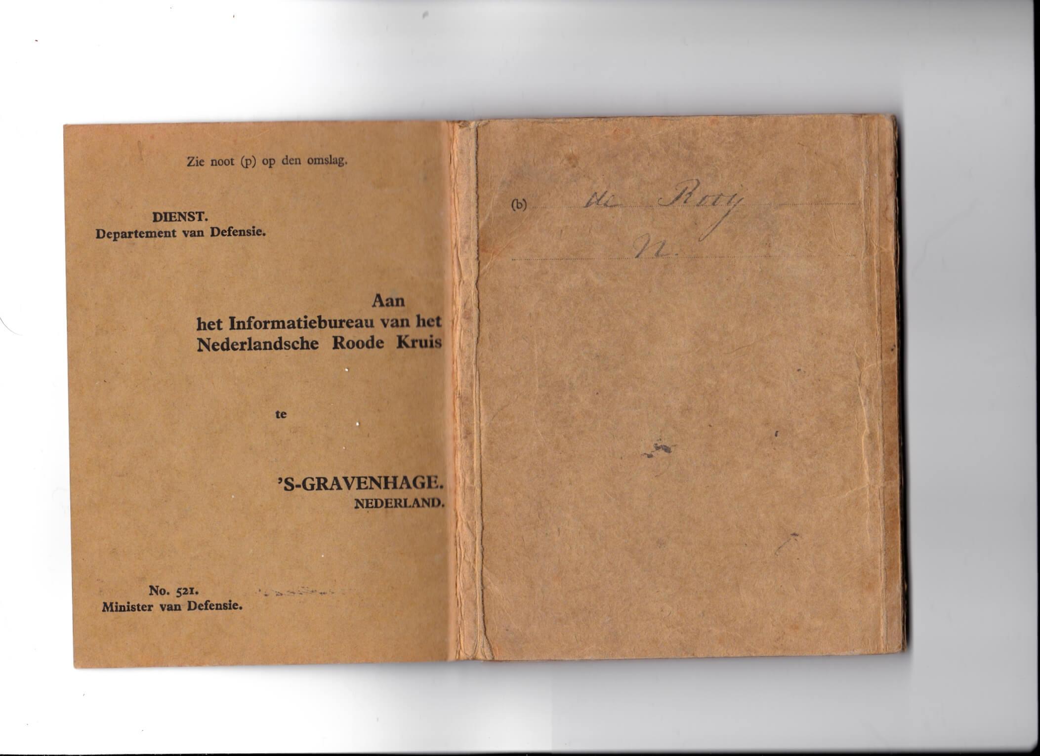 oorlogszakboekje 1940