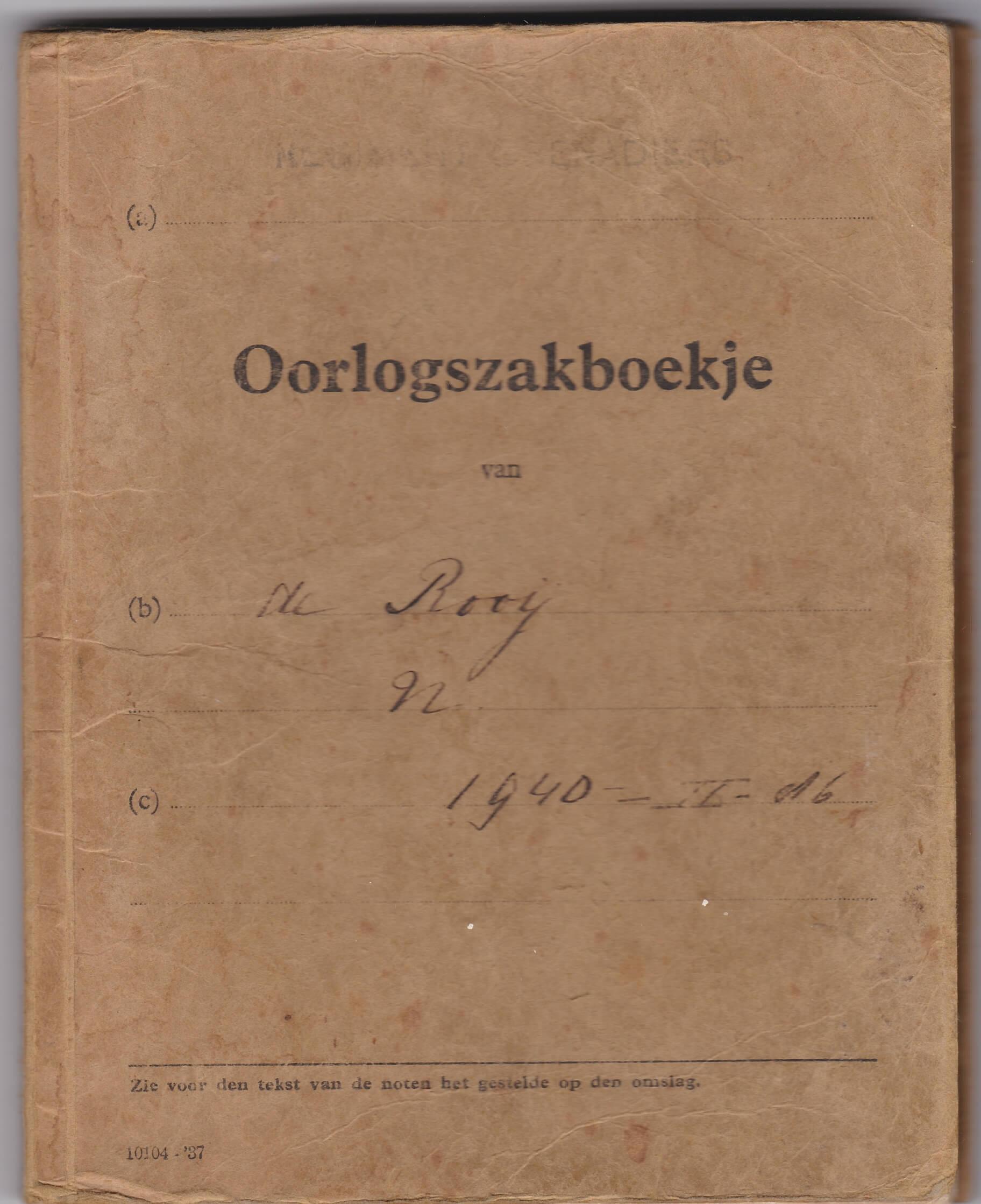 oorlogszakboekje wo2