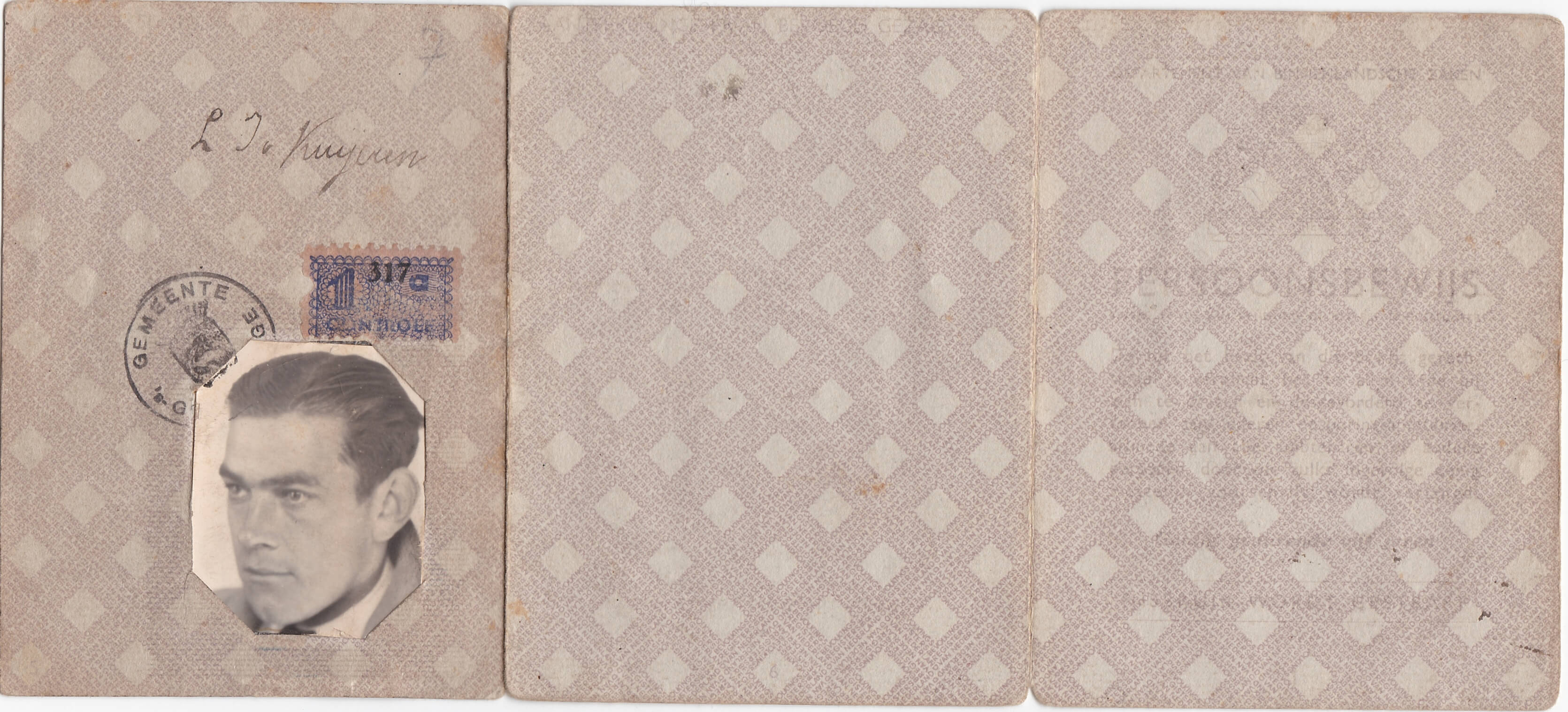 Persoonsbewijs uit de tweede wereldoorlog